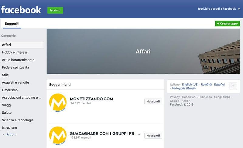 Come Guadagnare Con un Gruppo Facebook?