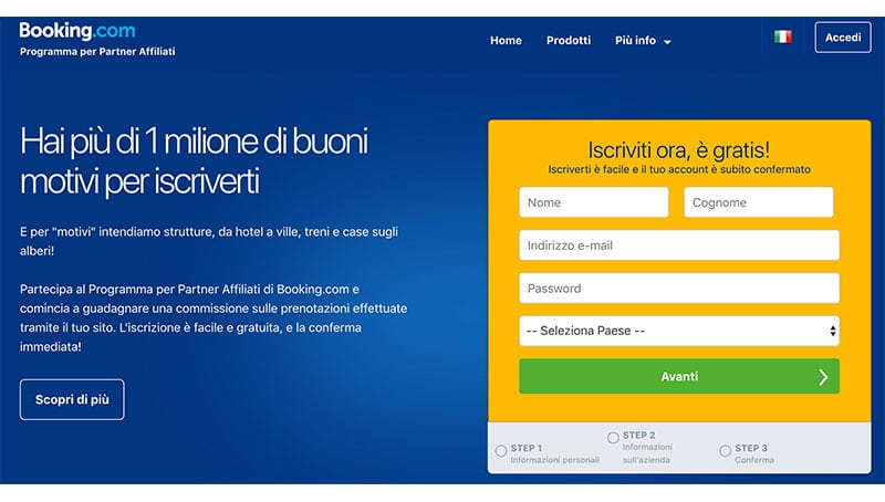 Affiliazione Booking.com Programma Per Partner Affiliati