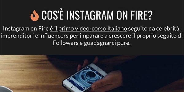 Instagram On Fire: Corso Per Diventare Influencer?