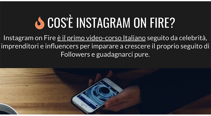 Instagram On Fire: Corso Per Diventare Influencer?