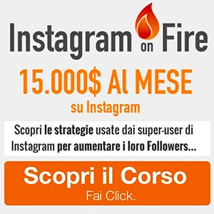 Guadagnare con Instagram - Corso Instagram on Fire
