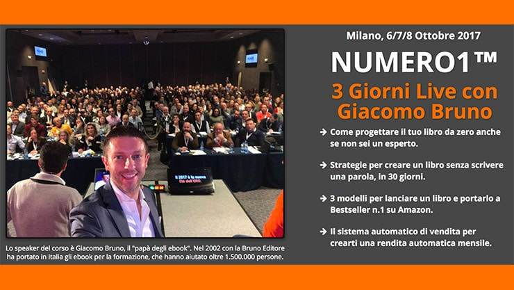 Corso Per Scrivere e Pubblicare Un Libro Giacomo Bruno Numero 1