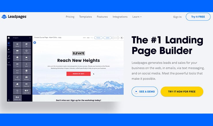 LeadPages - Software Per Creare Landing Page Efficaci