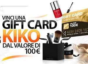 ConcorsoVinci una Gift Card Kiko da 100 €