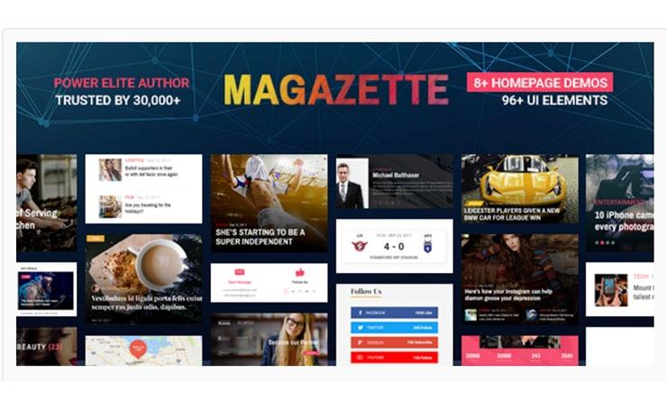 Magazzette - Tema WordPress Magazine e Blog 2018