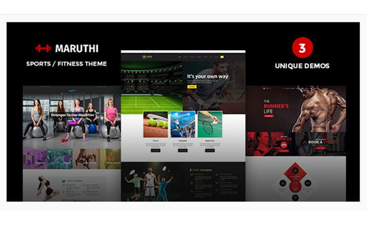 Maruthi Template WordPress Fitness Tema Premium