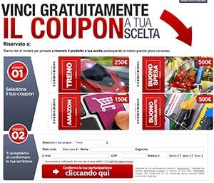 Vinci Coupon a Scelta - Concorsi Premio 1