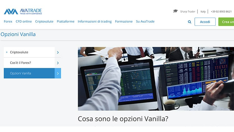 AvaTrade guida alle Vanilla Options
