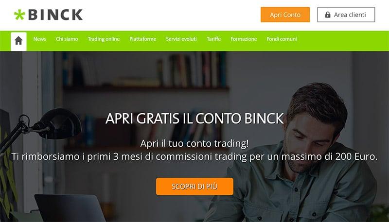 Binck Bank: La Banca del Trading Online - Spese Conto