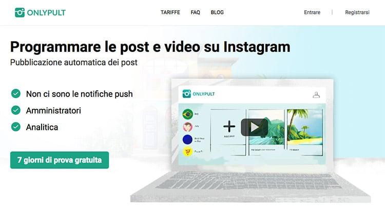 Come Programmare Foto e Contenuti su Instagram? Onlypult Guida Completa