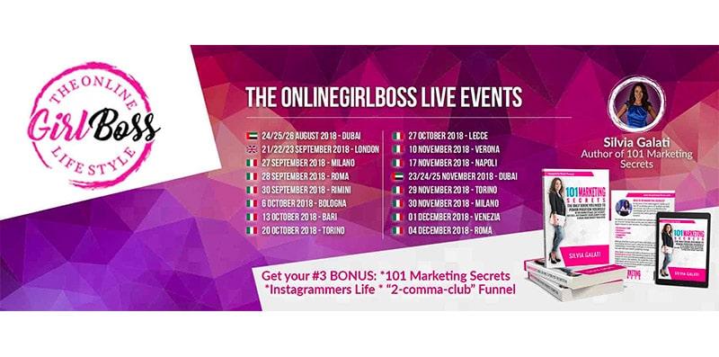 Become an Expert Online, l'Evento di Silvia Galati, TheOnlineGirlBoss