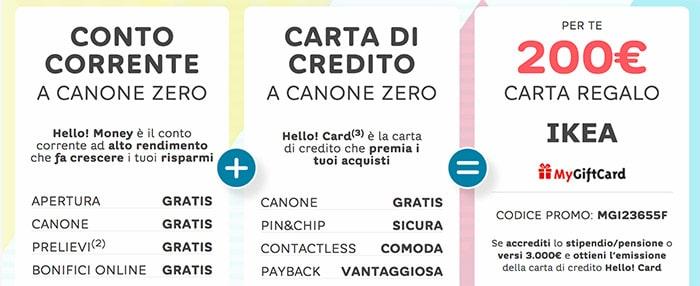 Promo Hello Bank Gift Card Ikea 200 €