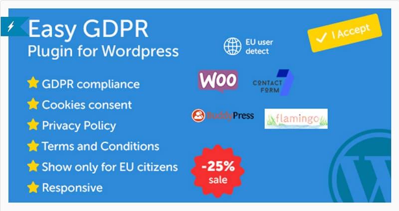 Plugin WordPress GDPR - Easy GDPR
