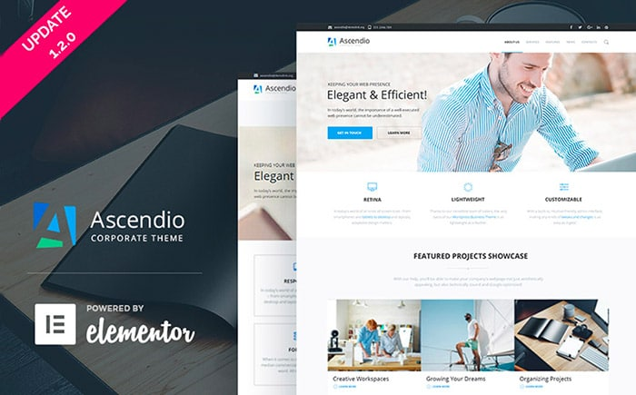 Ascendio Template WordPress - TemplateMonter