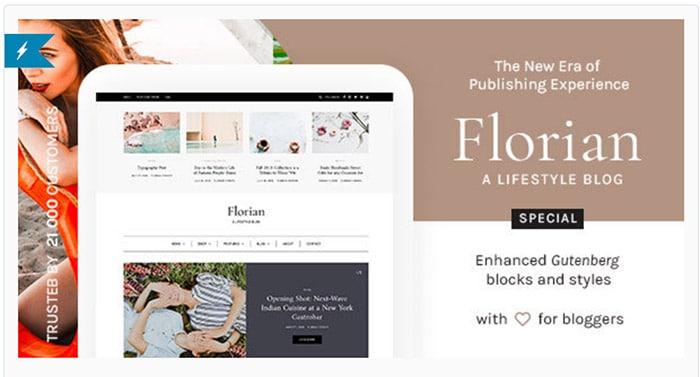 Florian - WordPress Blog Enhanced for Gutenberg