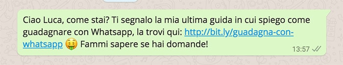 Guadagnare con Whatsapp - URL Shortening