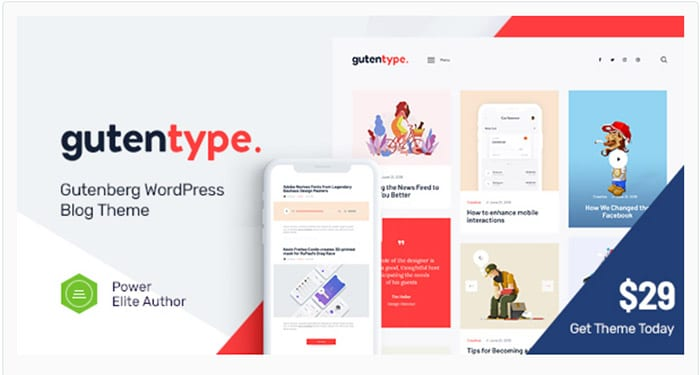 Gutentype - Gutenberg WordPress Theme for Modern Blog