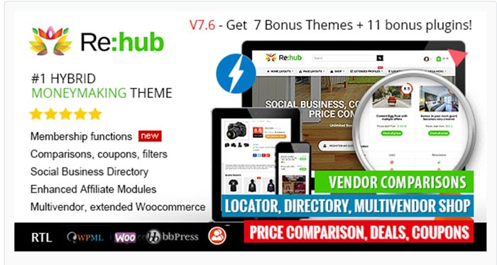 REHub - Price Comparison, Affiliate Marketing, Multi Vendor Store