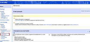Account e impostazioni di Ebay