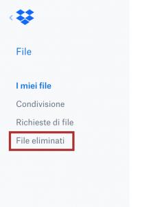 File Eliminati su Dropbox