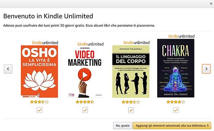 Benvenuto in Kindle Unlimited