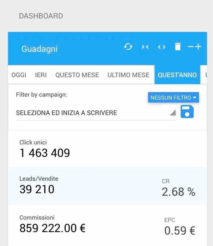 ROIBOOK Corso Affiliate - Screenshot Tindaro Battaglia