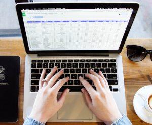 Esempio di tastiera comoda su pc portatile