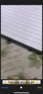 Schermata Taglio Video iOS