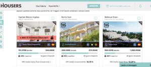 Schermata Investimenti Housers