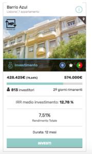 Inserzione Housers con tasto Investi