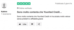 Recensione Younited Credit (via Trustpilot)