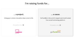 Indiegogo, progetto o causa