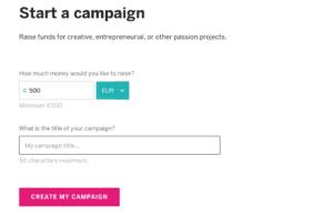 Iniziare una campagna su Indiegogo, primo step