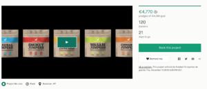 Schermata finanziamento Kickstarter