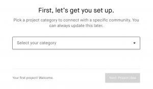 Impostazioni campagna Kickstarter: categoria