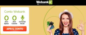 Schermata Conto Webank