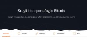Schermata Portafoglio Bitcoin