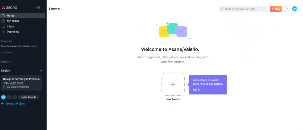 Iniziare a usare Asana