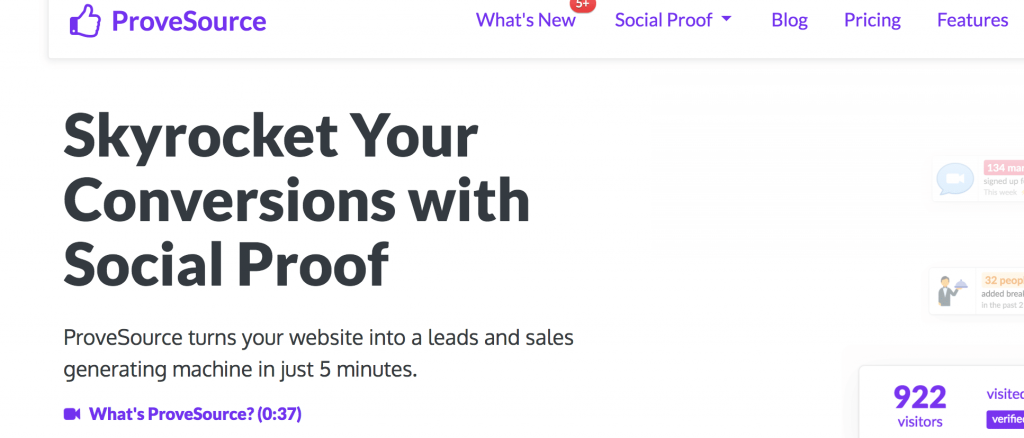 ProveSource Home Page