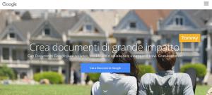 Homepage di Google Docs
