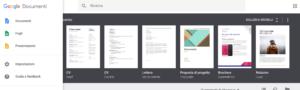 Schermata Google Docs