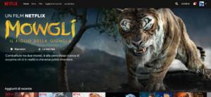 Schermata principale Netflix