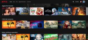 Schermata contenuti Netflix