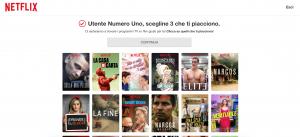 Netflix, schermata preferenze