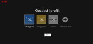 Gestione Profili Netflix