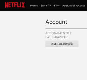 Disdici Abbonamento Netflix