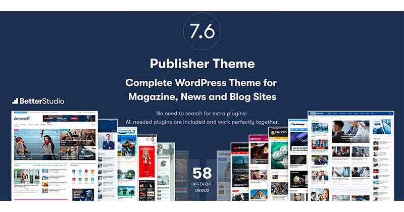 Miglior Tema WordPress Magazine e Blog: Publisher Better Studio?