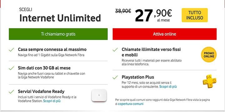 Offerte Vodafone Fibra e ADSL