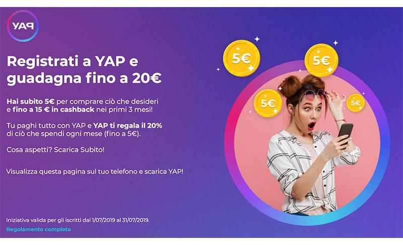 Carta YAP Mastercard e App: Bonus e Recensione