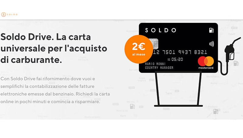 Carta Carburante Soldo Drive